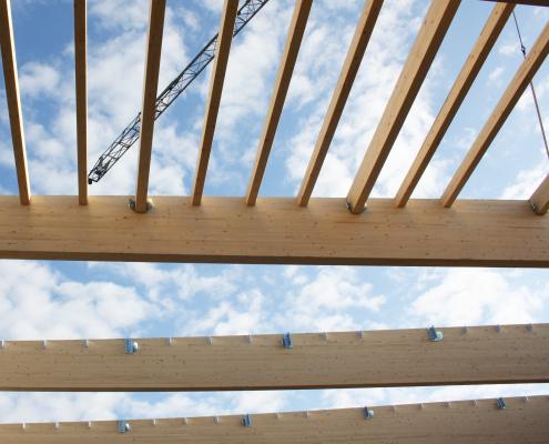 struttura edile in legno alta