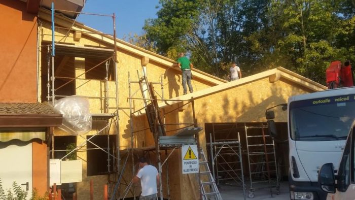 montaggio casa legno