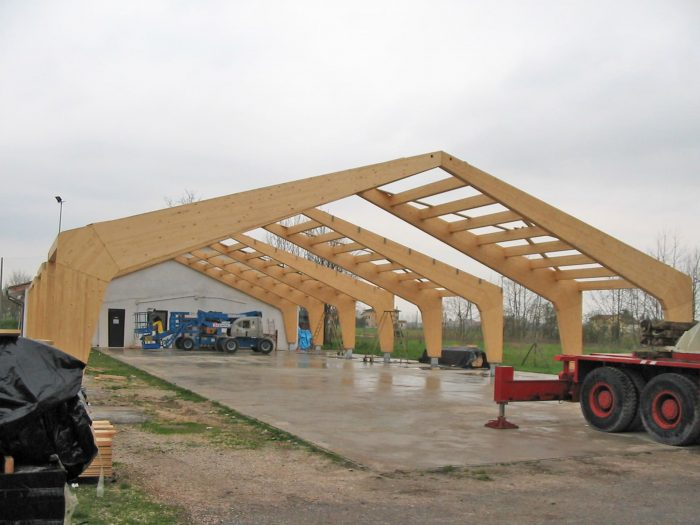 roofing with curved beams
