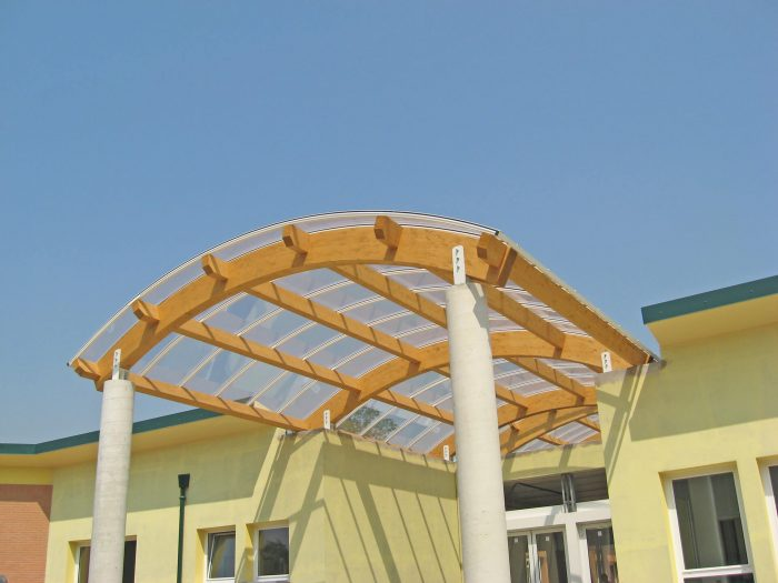 curved laminated porch