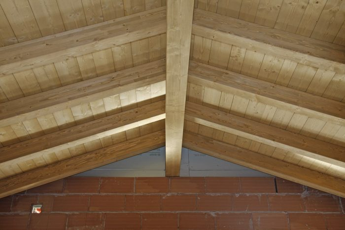wood house covering